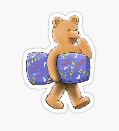Sweet dreams sleepy bear Sticker