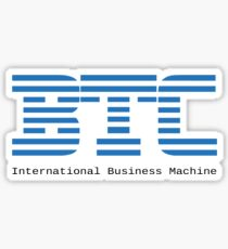 BTC - Bitcoin International Business Machine Sticker