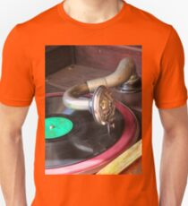 Close up of a Gramophone arm, needle and a 78 RPM record  Unisex T-Shirt