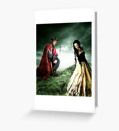 AND CHIVALRY WON HER HEART Greeting Card