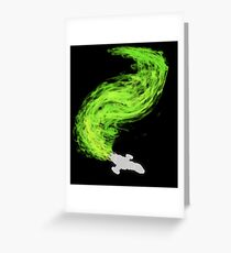 Firefly in Flight Greeting Card