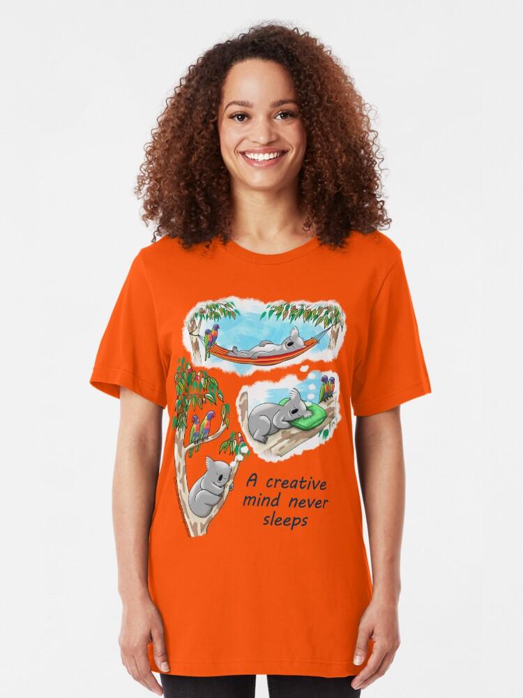 Alternate view of Koala dreams - A creative mind never sleeps Slim Fit T-Shirt