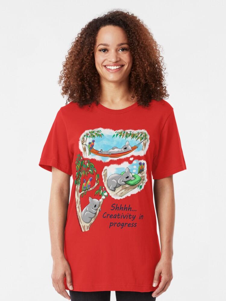 Alternate view of Koala dreams - Shhh… Creativity in progress Slim Fit T-Shirt