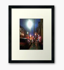 Downtown Lexington Kentucky At Night Framed Print