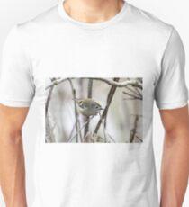 Goldcrest flashing its crown Unisex T-Shirt