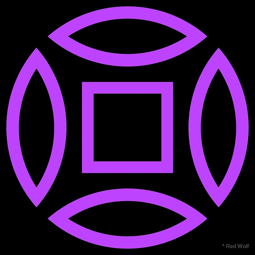 Geometric Pattern: Intersect Outline: Black/Purple by * Red Wolf