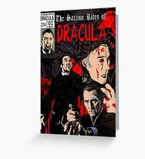 The Satanic Rites of Dracula Greeting Card
