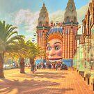 Luna Park with palms by Michael Matthews