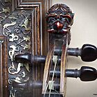 Antique lion head violin, Mittenwald ca. 1850 -  by Malcolm Chant