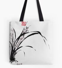 Japanese Orchid Design painted by Lee Henrik Tote Bag
