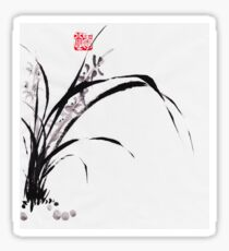 Japanese Orchid Design painted by Lee Henrik Sticker