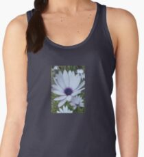White Osteospermum Flower Daisy With Purple Hue Women's Tank Top