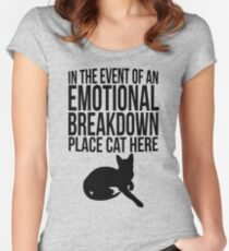 Place cat here Women's Fitted Scoop T-Shirt