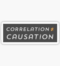 Correlation is not Causation Sticker