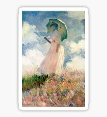 Claude Monet - Woman with a Parasol, Study Sticker