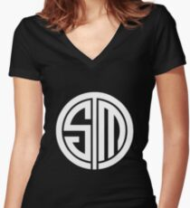 Tsm Women's Fitted V-Neck T-Shirt