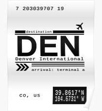 Denver International Airport Call Letters Poster