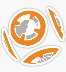 Orange and Grey Color Block Sticker