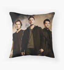 Supernatural Trio Throw Pillow