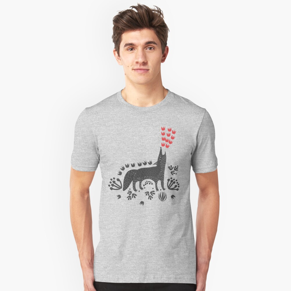 Wolf...  Slim Fit T-Shirt