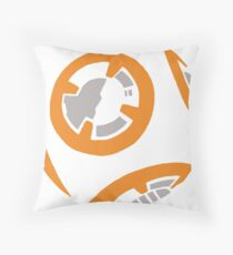 Orange and Grey Color Block Throw Pillow