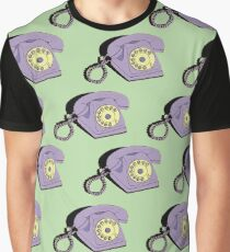 Telephone (purple & green) Graphic T-Shirt