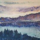Rhine Trees in the Mist by Vandy Massey