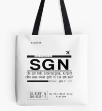 SGN Ho Chi Minh City International Airport Call Letters Tote Bag