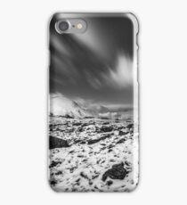 Llyn Idwal Monochrome Sky  iPhone Case/Skin