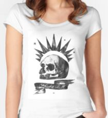 LIFE is STRANGE · Chloe Price's t-SHIRT 'MISFIT SKULL' Women's Fitted Scoop T-Shirt