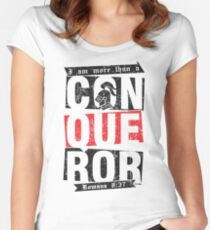 Christian T-Shirt: More than a conqueror Women's Fitted Scoop T-Shirt