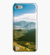 Autumn morning in the alps iPhone Case/Skin