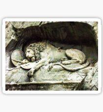 The Lion Monument  Sticker