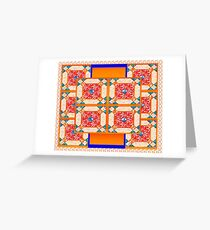 Patchwork beautiful style contry orange  Greeting Card