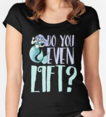 Do you even lift mermaid fitness Fitted Scoop T-Shirt