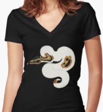 Ball/Royal Python - Pied Morph Women's Fitted V-Neck T-Shirt