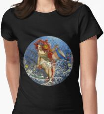 Vintage Mermaid Aquarius Gothic Whimsical Collage T-Shirt