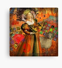 Vintage Aries Gothic Whimsical Collage Woman Fantasy Canvas Print