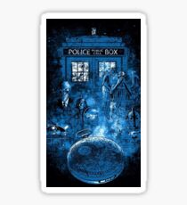 Doctor Who Villians And Tardis Sticker