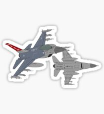 187th FW 100th FS Red Tails F-16 Vipers Alabama ANG Sticker