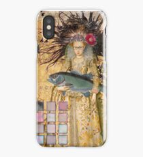 Whimsical Pisces Woman Renaissance fishing Gothic iPhone Case/Skin