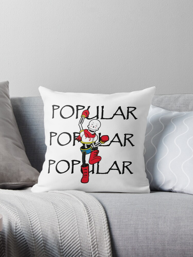 undertale papyrus popular by zariaa - Popular Throw Pillows
