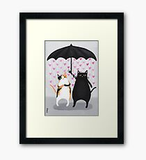 Love Rains Down Cats Framed Print