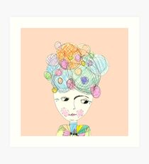 Madame Moonage - a tribute to David Bowie (peach) Art Print