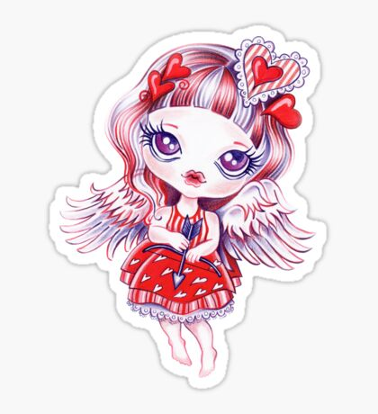 Valentine Girl Sticker