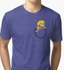 Pocket Peach Tri-blend T-Shirt