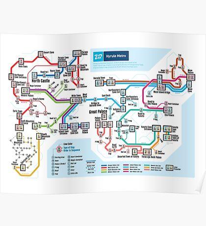 Zelda II: The Adventure of Link - NES Maps Series Poster