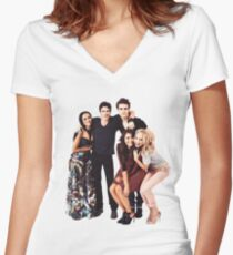 The Vampire Diaries Cast Women's Fitted V-Neck T-Shirt