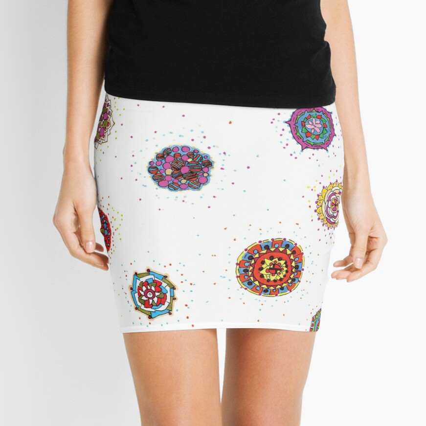 Snap Dragon pattern design Mini Skirt