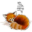 """""""You Are Worth Taking Care of"""" Red Panda by thelatestkate"""